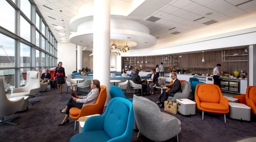 Air France lounge IAD