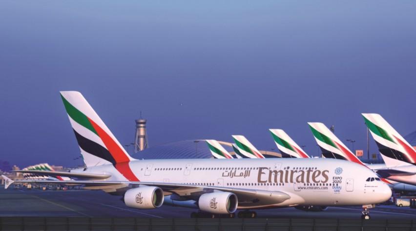 Emirates Vloot Dubai Airport