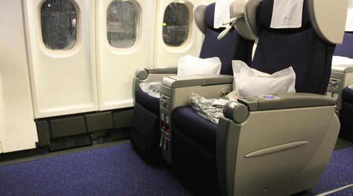 Oude KLM Business Class