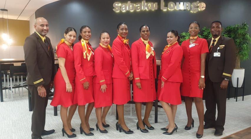 Surinam Airways lounge