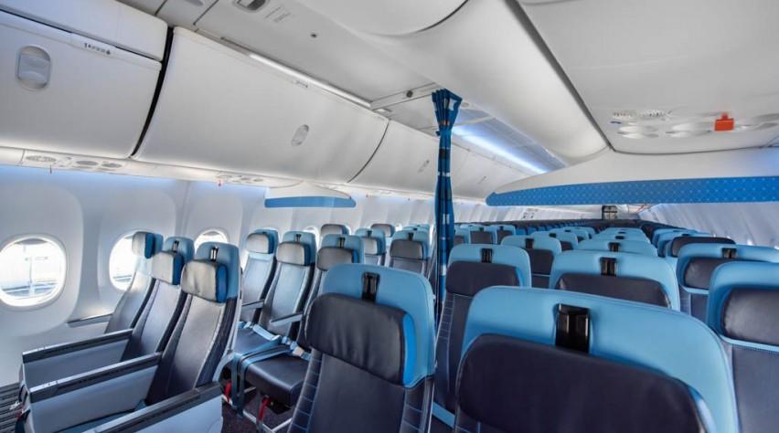 KLM 737 cabine