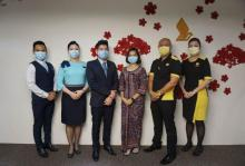 Singapore Airlines Crew Gevaccineerd