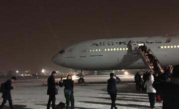 Kapotte Air France Boeing 777 in Irkoetsk