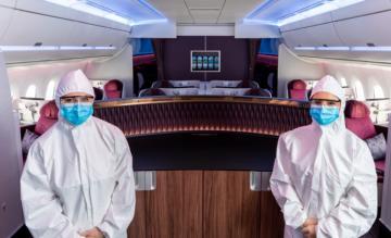 Qatar Airways crew