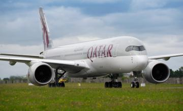 Qatar Airways Airbus A350 Dublin Airport