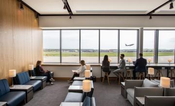 British Airways Aberdeen lounge