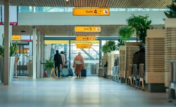 Nieuwe vertrekhal Rotterdam Airport