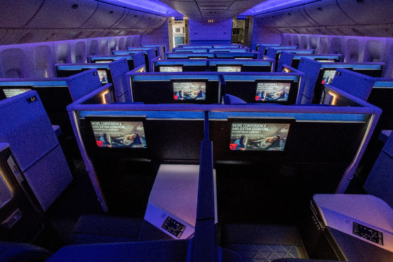 Nieuwe Delta Boeing 777 Cabine