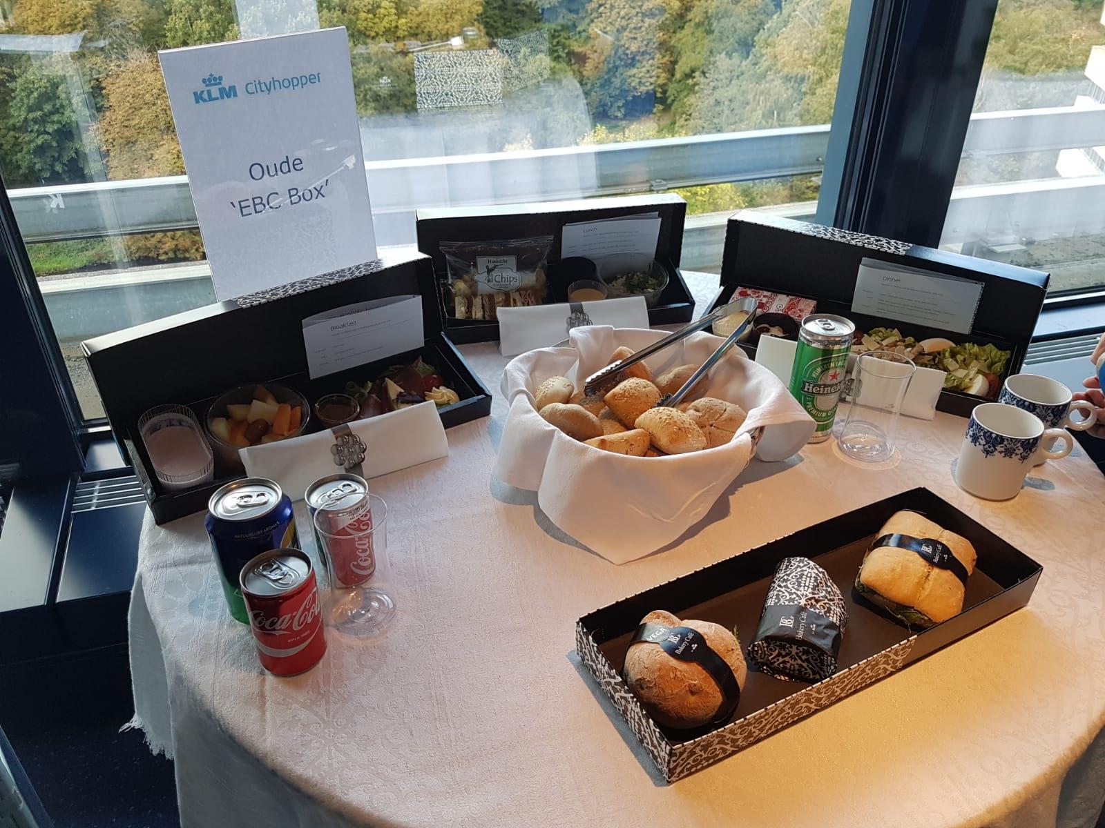 Nieuwe maaltijdbox KLM Cityhopper Business Class