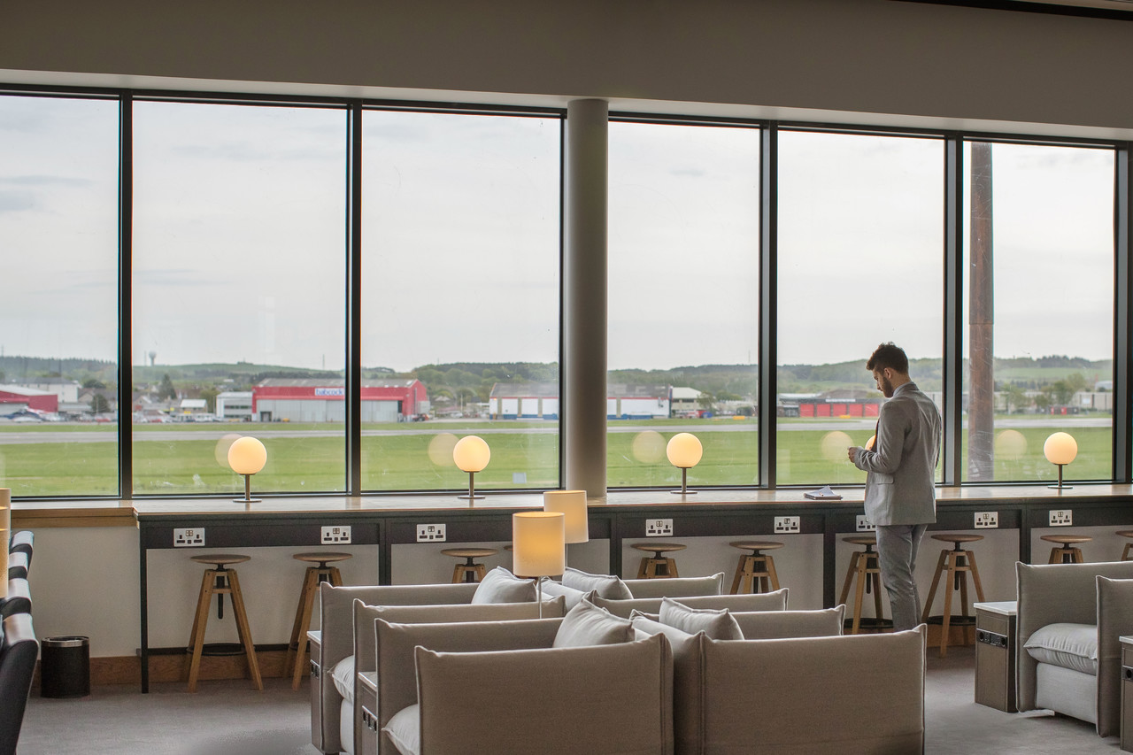 British Airways Aberdeen lounge
